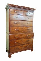georgian mahogany antique chest of drawers